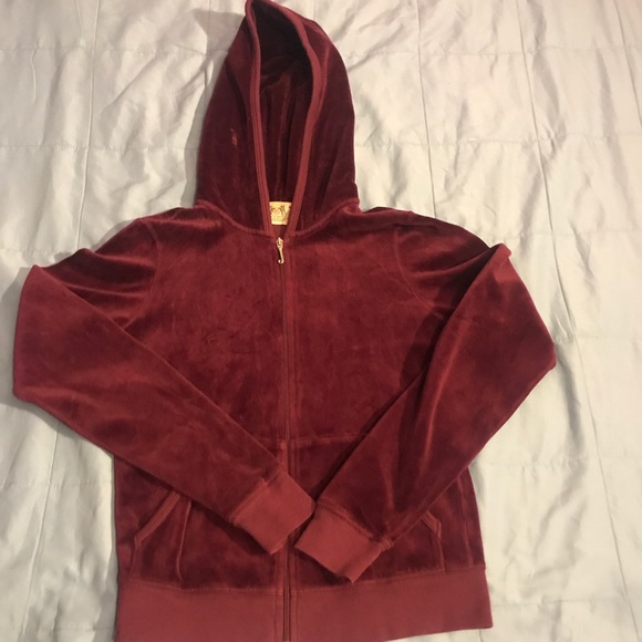 Juicy Couture Other - JUICY COUTURE ZIP VELOUR HOODIE SWEATER da5a81757c